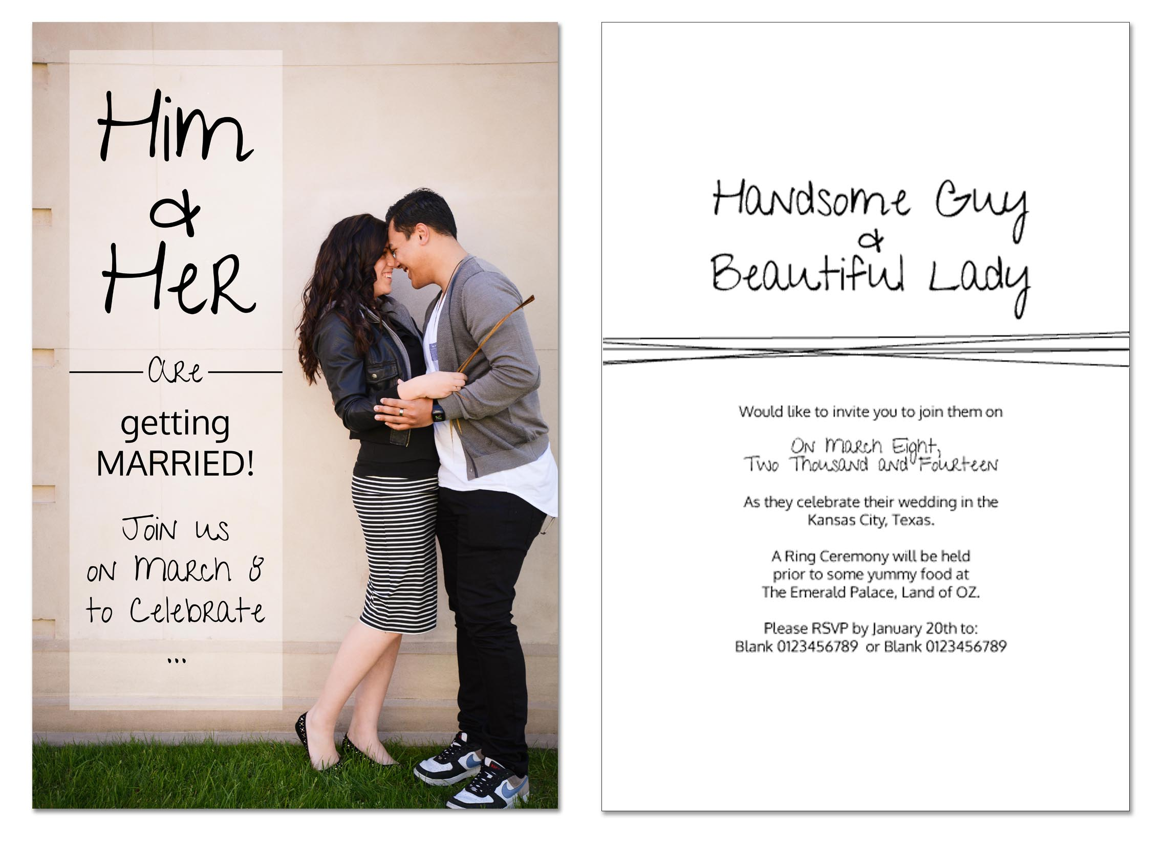 Wedding Invitations Natalie Priscilla Photography And Design
